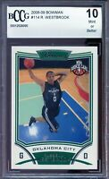 2008-09 Bowman #114 Russell Westbrook Rookie Card BGS BCCG 10 Mint+