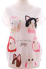TP-22 Cat Katzengesicht süß Print kurzarm T-Shirt Lolita Harajuku Japan Kawaii