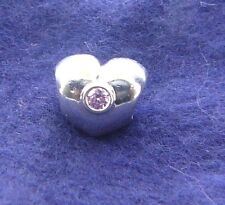 790134PCZ  PANDORA STERLING SILVER HEART BEAD WITH PINK CZ NEW IN BOX