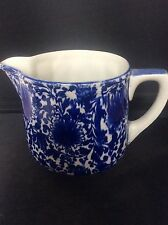 Antique Royal Doulton Blue & White Transfer Printed Ware Jug Pitcher 4