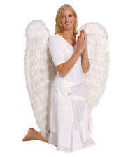 Extra Large White And Black Feather Angel Wings