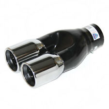 Dual Twin Muffler Tip Exhaust Tail Pipe For Renault Scenic Clio Mk2 Mk3 Fluence