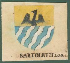 ARALDICA. BARTOLETTI-BUONINSEGNI. Toscana '600. Stemmi di famiglie nobili