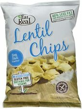 EAT REAL Lentil Sea Salt Vegan Gluten Free Crisps Large 40g x 12 Packets Bags