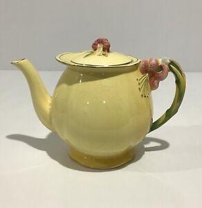 Vintage Royal Winton Grimwades Teapot - Yellow Tiger Lily 5802 - England