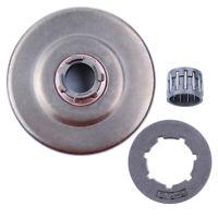 Clutch Drum 3/8-8T Sprocket Kit Fit Husqvarna 272 268 266 66 61 w/Needle Bearing