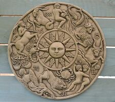 Zodiac Wall Plaque Stone Garden Ornament (Astrology)