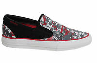 Converse Skid Grip EV Grey Red Slip On Mens Trainers Canvas Shoes 100359 U47