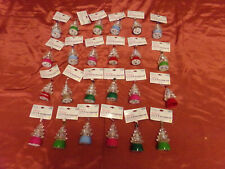 LOT of 24 Christmas Battery Operated LED Lite Cute Tree Hanging Ornaments