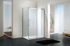 Frameless Sliding Shower Screen 2000 mm High x 1210 -1190 mm x 850-870mm Return