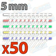 Kit 50 LED 5mm Ultra Brillo 20mA - 5 colores - Arduino Electronica DIY