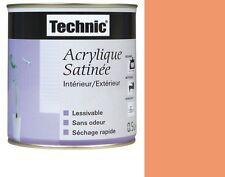PEINTURE ACRYLIQUE SATIN 2.5 L TECHNIC ORANGE ACIDULEE lessivable sans odeur