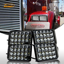 Freightliner Classic Projector Led Headlight Sealed Beam Replace Hologen HID 4Pc