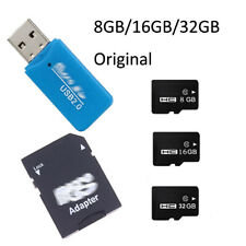 8GB 16GB 32GB TF Micro SD Memory Card Class 4/10, Reader, To SD Card Adapter Lot