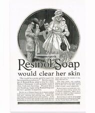 1917 Resinol Soap Fashionable Lady art by John LaGatta  Vtg Print Ad