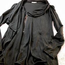 Matty M black zip up Moto wrap light weight Jacket cardigan stitch fix Sz XS