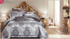 4tlg King Style Bedding Duvet Cover Cushion Hounds Single Silver New Top