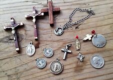 Vintage Mixed Religious Catholic Medals and Cross pendants lot