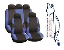 11PCE COVENTRY BLUE UNIVERSAL FULL SET OF SEAT COVERS FOR Peugeot 107 206 207 30