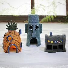 More details for resin spongebob fish tank ornament fish tank accessories aquarium home decor 3pc