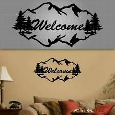 """Welcome Wall Decal, Welcome Decor, Mountain Sticker, 36""""x20"""""""