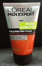 100mL NEW LOREAL MEN EXPERT Pure Matte Volcano Face Wash Anti Acne Foam/Cleanser