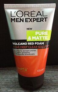 100mL NEW LOREAL MEN EXPERT Pure Matte Volcano Face Wash Anti Acne Foam/Cleanser