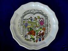 Unusual Faiencerie De Salins Plate-Made in France-Mint