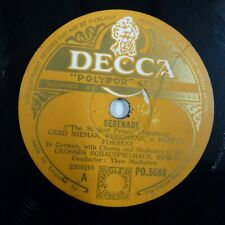 78rpm GROSSES SCHAUSPIELHAUS BERLIN The Student Prince-Serenade DECCA PO 5086