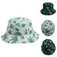 Weed Bucket Hat Marijuana Hats Fashion Cap Casual Cotton Caps Hiking Outdoor