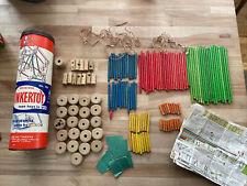 Vintage Tinker Toys,The Original No.136 With Original Instruction Manual 149pc