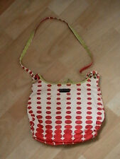 ORLA KIELY HANDBAG SHOULDER RED & WHITE SPOTS GREEN EXTREMELY RARE BOUGHT 1990S