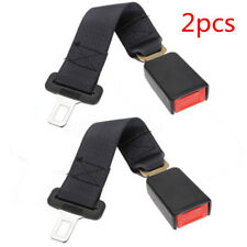 "2x 36CM CAR SEAT BELT SEATBELTS EXTENDER EXTENSION SAFETY BLACK 7/8"" BUCKLE  AU"