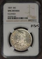 1829 50c Capped Bust Half Dollar - NGC UNC Details - SKU-Z1308