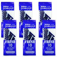 Dorco Fresh Twin Blade Disposable Razors 10 per pack (6 packs) Shave