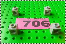 706 LEGO Part 6541 Light Bluish Grey Technic, Brick 1 x 1 with Hole x 4 Pieces