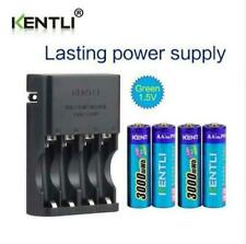 KENTLI CH4-57AU AA AAA charger + 4PCS 1.5v lithium AA rechargeable battery