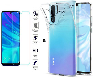 HUWAEI P30 P20 MATE P10 P SMART LITE Y6 Y7 Tempered Glass Protector Gel Case