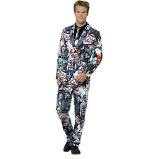 Smiffyu0027s Menu0027s Zombie Print Suit Jacket Trousers and Tie Adult Costume Medium  sc 1 st  eBay & Smiffys Skeleton Costumes for Men | eBay