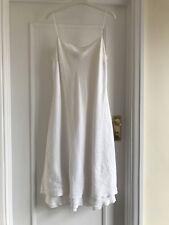 Vestido De Verano Rene Derhy con tiras de lino pequeñas cuentas delicado White Tamaño Pequeño