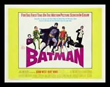 BATMAN Movie POSTER 22x28 Half Sheet Adam West Burt Ward Robin Joker Catwoman