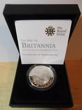 2010 Silver Proof £2 Two Pounds Britannia; cased + COA Birthday gift? FREE UK pp