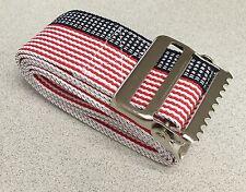 """METAL Release Transfer Gait Belt 60"""" Stars Stripe Gaits Medical Caregiver Belts"""