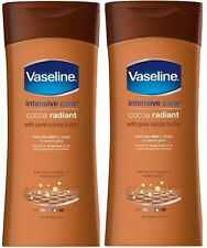 2x vaseline Intense Cacao Radiant 400ml Lotion DOUBLE PACK NEUF parfum
