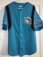 Florida Marlins Majestic MLB Baseball Jersey Adult Size XL Teal