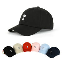 Unisex Women Men Peanuts Snoopy Simple Adjustable Golf Baseball Cap Trucker Hats