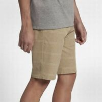 "Hurley Men's Lightweight Phantom Structure Khaki 20.5"" Hybrid Shorts MWS0005430"