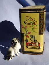 Japanese Chin tea tin figurine Germany England dog
