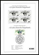 BRD SCHWARZDRUCK 1987 MUSIK SÄNGERBUND ETB MUSIC BLACK PRINT LTD ze58