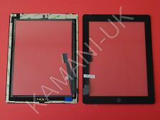 For iPad 3 & 4 Touch Screen Digitizer Glass Replacement Black With Home Button